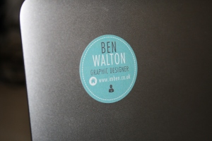 A sticker on my Mac